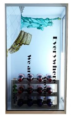 Yowow透明顯示-42吋穿透式TFT LCD廣告show case